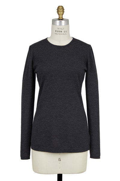 Kinross - Charcoal Gray Cashmere Crewneck Sweater
