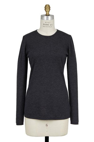 Kinross - Charcoal Gray Cashmere Crewneck Sweater