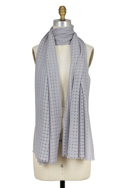 Kinross - Dove Open Weave Cashmere Scarf
