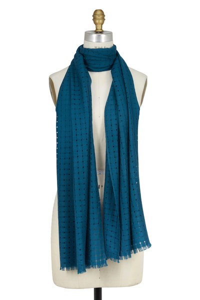 Kinross - Juniper Open Weave Cashmere Scarf