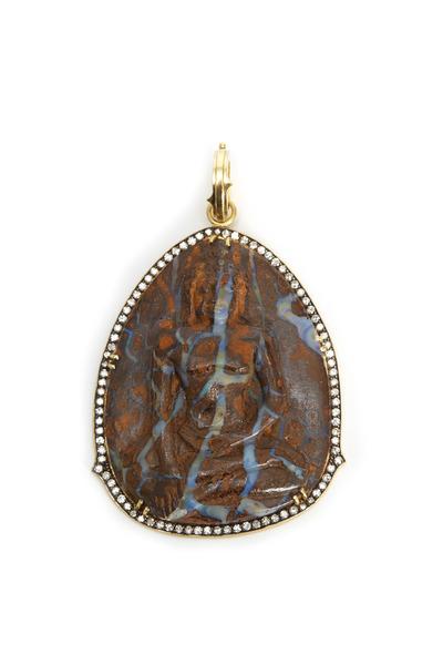 Sylva & Cie - Opal Buddha Pendant