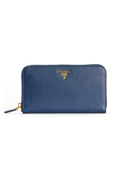 Prada - Navy Blue Saffiano Sport Zip Wallet