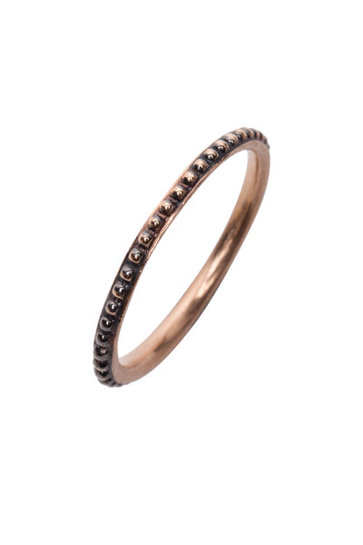 Sylva & Cie - 14K Oxidized Rose Gold Mini Caviar Band