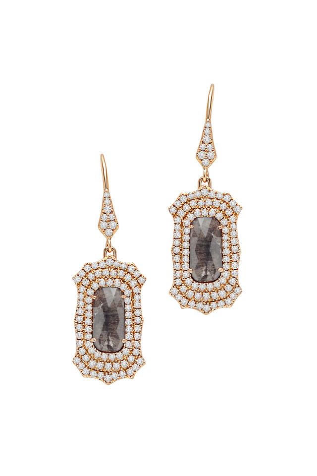 Gold Dangle Diamond Earrings