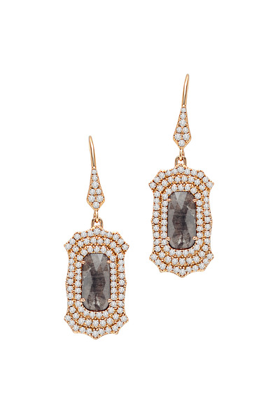 Sutra - Gold Dangle Diamond Earrings
