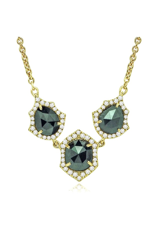 Gold Rough Diamond Necklace