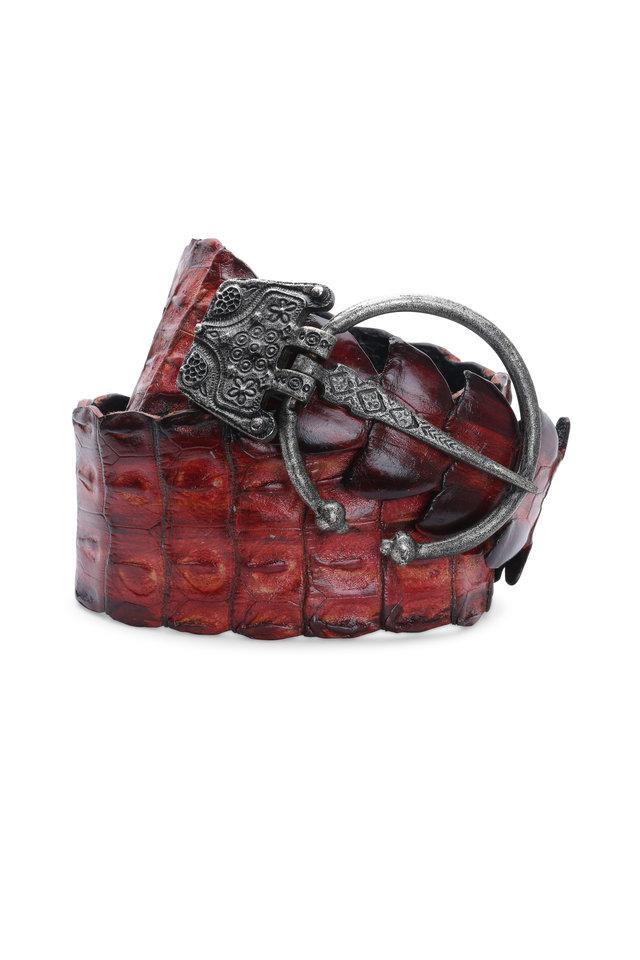 Red Crocodile Gladiator Belt