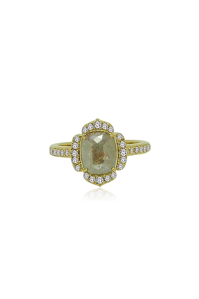 Gold Rough Diamond Ring