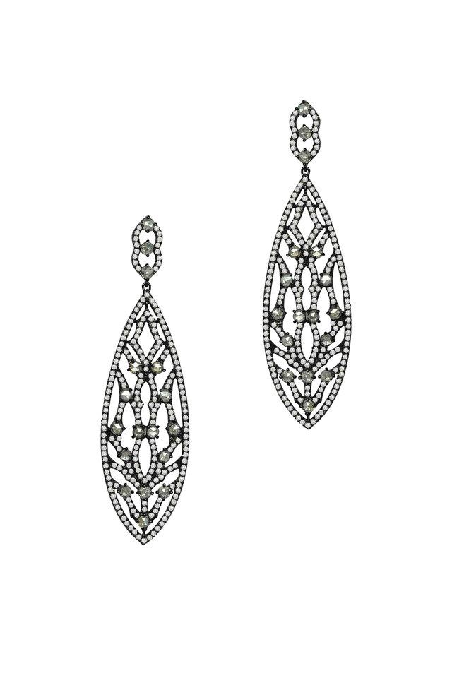Rose Gold Diamond Drop Earrings