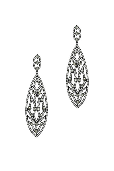 Sutra - Rose Gold Diamond Drop Earrings