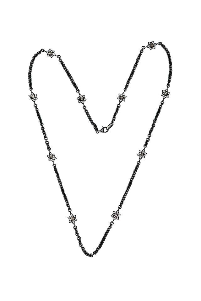 White Diamond Chain Necklace
