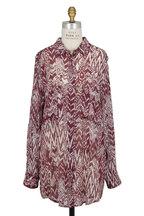 IRO - Burgundy Ikat Print Tunic Blouse