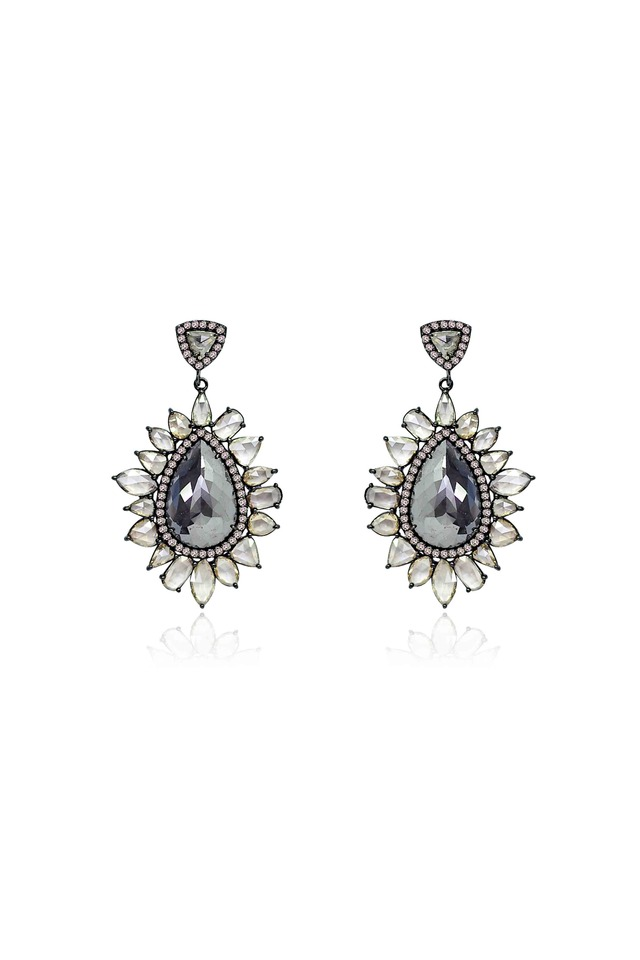 Rough & Rose-Cut Diamond Earrings
