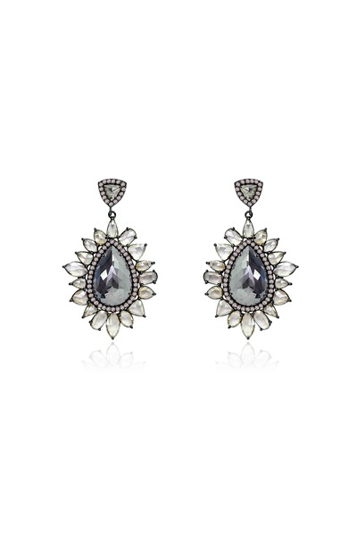 Sutra - Rough & Rose-Cut Diamond Earrings