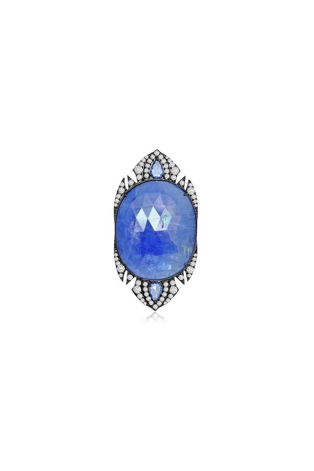 Tanzanite Sapphire Diamond Ring