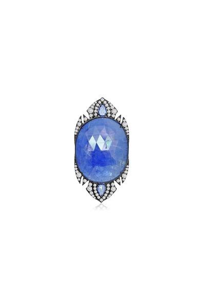 Sutra - Tanzanite Sapphire Diamond Ring