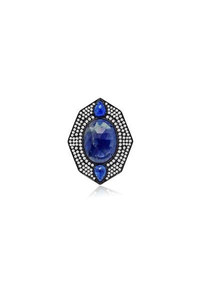 Sutra - Blue Sapphire Diamond Ring