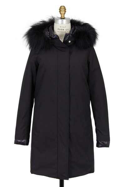 Herno - Black Sub Zero Waterproof Fur Trim Coat