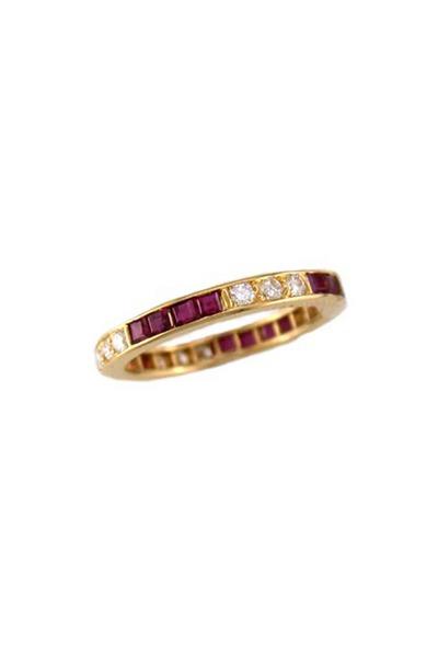 Oscar Heyman - Gold Ruby & Diamond Guard Ring