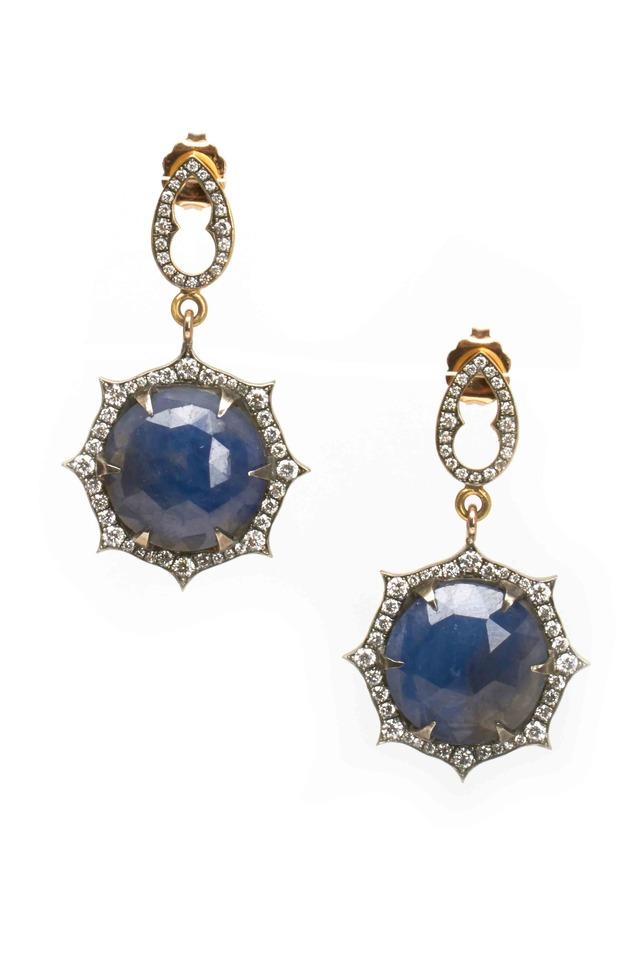 Gold Sapphire Earrings
