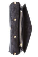 Lanvin - Black Pebbled Leather Chain Clutch