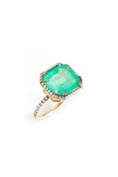 Sylva & Cie - Gold Emerald & Diamond Ring
