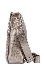 Valentino Garavani - Rockstud Gunmetal Metallic Leather Small Crossbody
