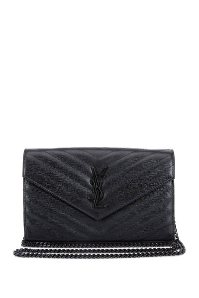 Saint Laurent - Monogram Matelassé Leather Chain Wallet