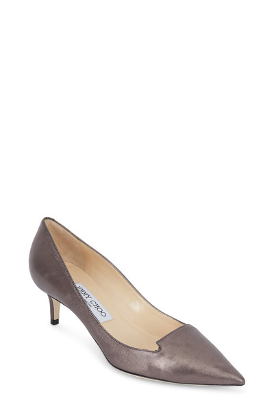 Jimmy Choo - Allure Mist Shimmer Leather Low Pump, 50mm