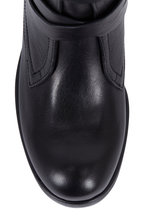 Jimmy Choo - Dalston Black Leather Wrap-Around Strap Biker Boot