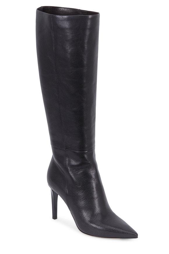 Jimmy Choo Lyonse Black Leather Tall Dress Boot, 85mm