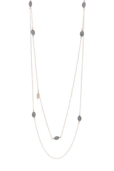 Tulah Jem - Rose Gold Pavé Diamond Necklace