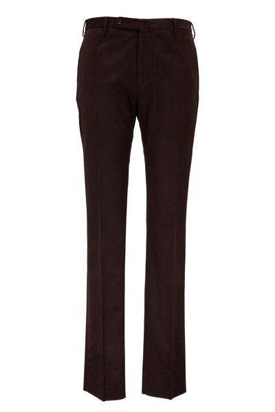 Incotex - Dark Brown Stretch Cotton Trousers