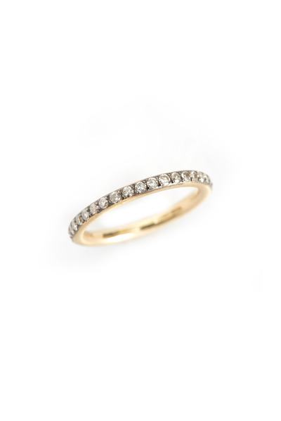 Sylva & Cie - 14K Yellow Gold Gray Diamond Band