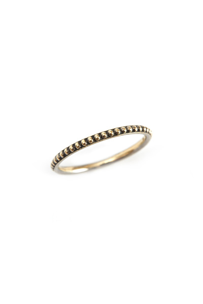 Sylva & Cie - Yellow Gold Caviar Band
