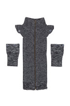 Veronica Beard - Uptown Black Mélange Wool Dickey & Cuffs