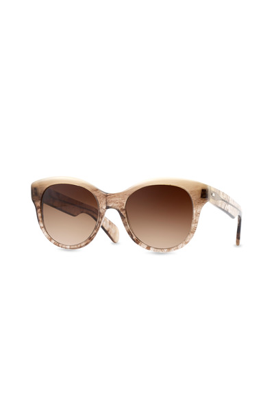 Oliver Peoples - Jacey Brown Polarized Cateye Sunglasses