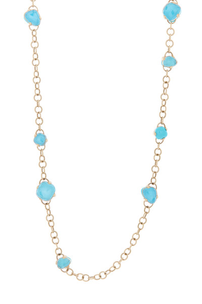 Pomellato - Capri Rose Gold Turquoise Rock Crystal Necklace