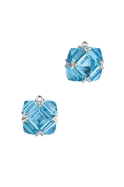 Paolo Costagli - Very PC White Gold Blue Topaz Earrings Charms