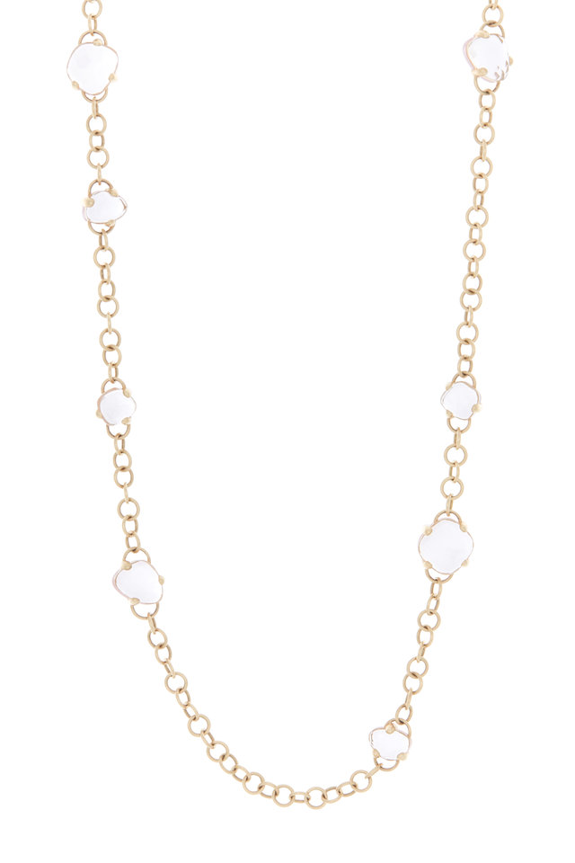 Capri 18K Rose Gold Rock Crystal & Quartz Necklace