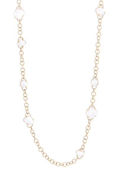 Pomellato - Capri 18K Rose Gold Rock Crystal & Quartz Necklace