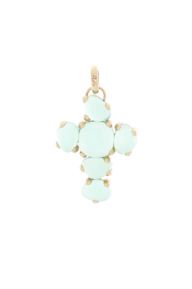 Capri 18K Rose Gold Chrysoprase & Crystal Pendant