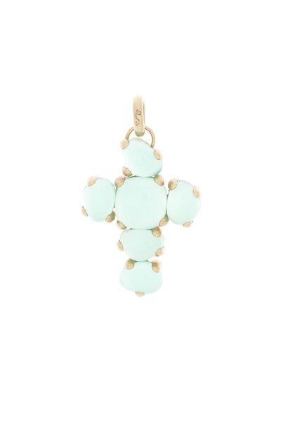 Pomellato - Capri 18K Rose Gold Chrysoprase & Crystal Pendant