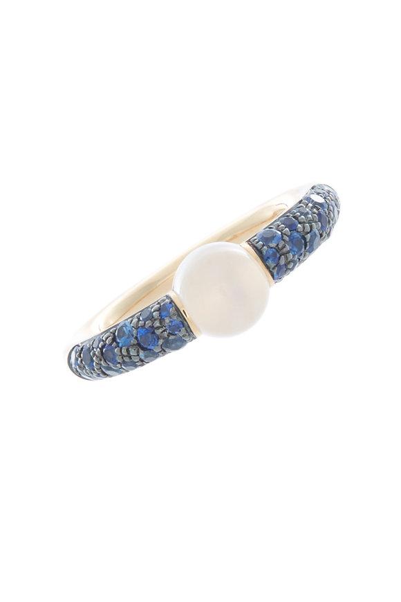 Pomellato M'ama Non M'ama Gold Moonstone Sapphire Ring