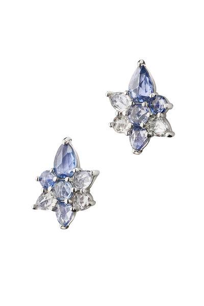 Monica Rich Kosann - Sterling Silver Blue Sapphire Studs