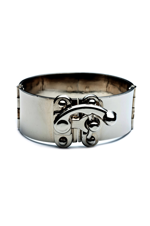 Sterling Silver Hook Latch Cuff Bracelet