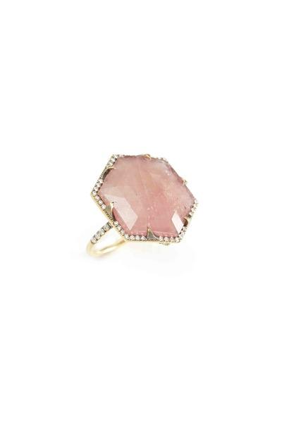Sylva & Cie - Gold Pink Sapphire & Diamond Ring