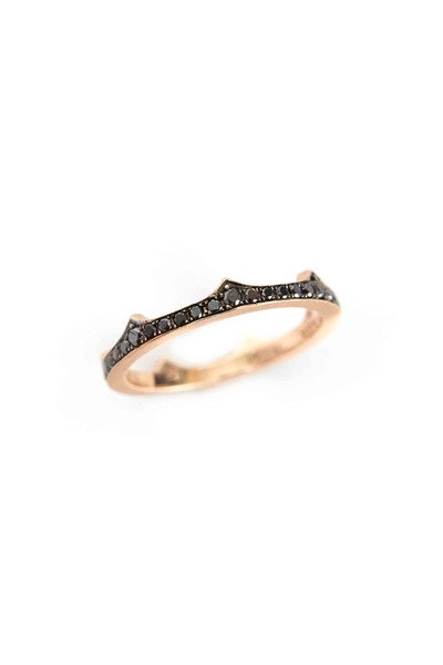 Sylva & Cie - Rose Gold & Black Diamond Crown Band