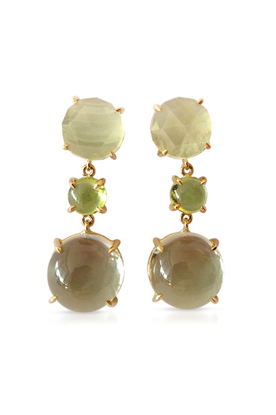 Emily & Ashley - Peridot, Green Amethyst & Quartz Drop Earrings