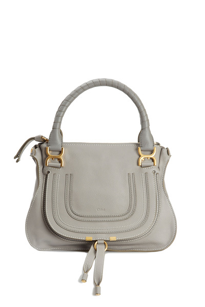 Chloé - Marcie Cashmere Gray Leather Medium Shoulder Bag